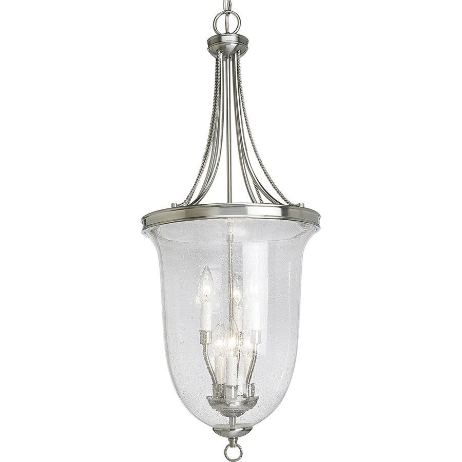 Shop Progress Lighting Seeded Glass 6 Light Brushed Nickel