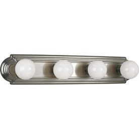 Shop Progress Lighting 4 Light Brushed Nickel Bathroom Vanity Light At
