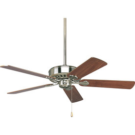 Progress Lighting Airpro Performance 52-in Brushed Nickel Downrod or Flush Mount Indoor Ceiling Fan ENERGY STAR