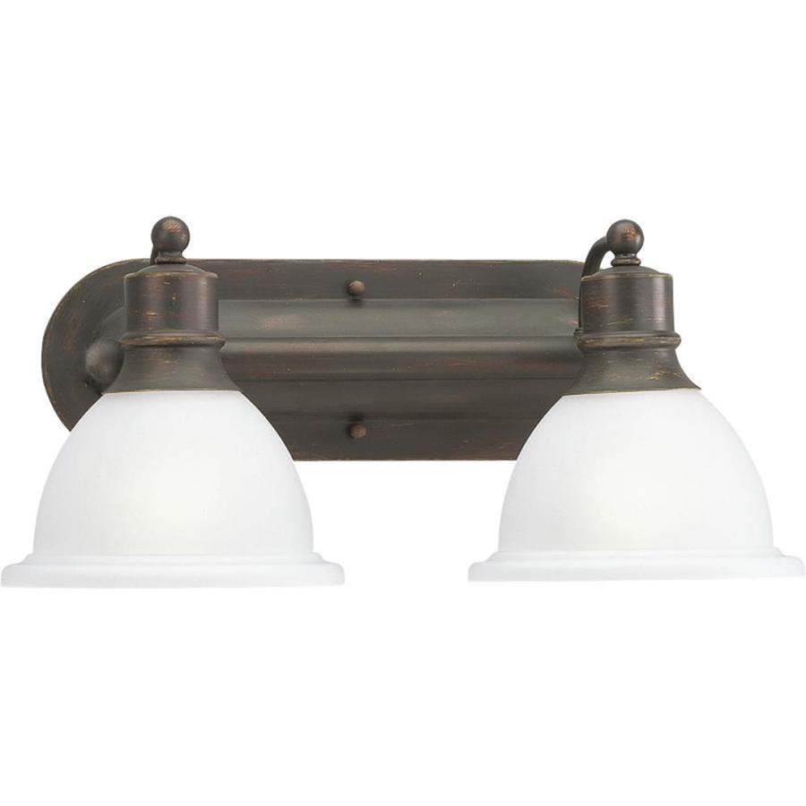Antique Bathroom Vanity Lights : Shop Progress Lighting 2-Light Madison Antique Bronze Bathroom Vanity Light at Lowes.com