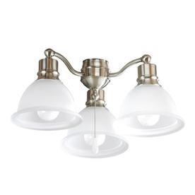 Progress Lighting Madison 3-Light Brushed Nickel Incandescent Ceiling Fan Light Kit with Etched Glass