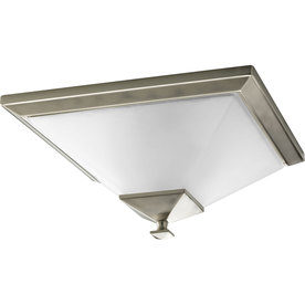 Progress Lighting North Park 15-in W Brushed Nickel Ceiling Flush Mount