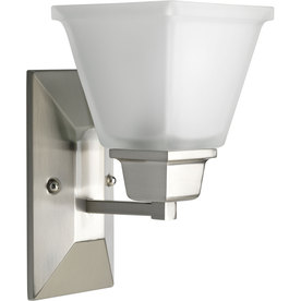 Progress Lighting North Park 5.5-in W 1-Light Brushed Nickel Arm Hardwired Wall Sconce