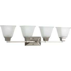 Progress Lighting 4-Light North Park Brushed Nickel Bathroom Vanity Light