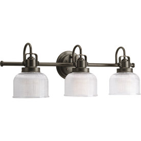 Progress Lighting 3-Light Archie Venetian Bronze Bathroom Vanity Light