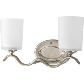 Shop Progress Lighting 2 Light Inspire Brushed Nickel Bathroom Vanity Light A