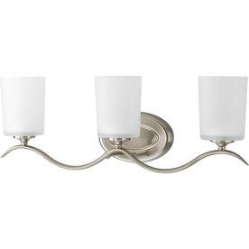 Shop Progress Lighting 3 Light Inspire Brushed Nickel Bathroom Vanity Light A