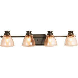 Antique Bathroom Vanity Lights : Shop Progress Lighting 4-Light Academy Antique Bronze Bathroom Vanity Light at Lowes.com