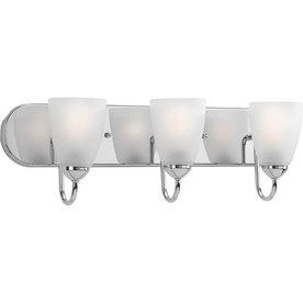 Progress Lighting 3-Light Gather Polished Chrome Bathroom Vanity Light