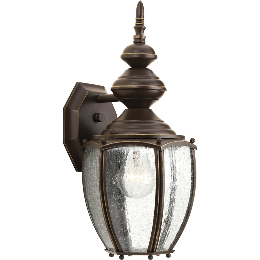 Shop Progress Lighting Roman Coach 15.25-in H Antique Bronze Outdoor Wall Light at Lowes.com