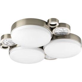 Progress Lighting Bingo 24-in W Brushed Nickel LED Ceiling Flush Mount