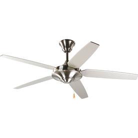 Progress Lighting Airpro Signature 54-in Brushed Nickel Downrod Mount Indoor Ceiling Fan ENERGY STAR