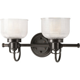 Shop Progress Lighting 2 Light Archie Venetian Bronze Bathroom Vanity Light At