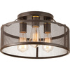 Progress Lighting Swing 15-in W Antique Bronze Ceiling Flush Mount Light