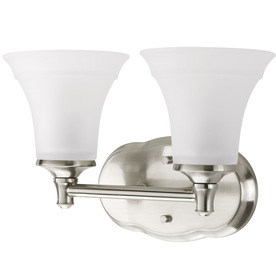 Delta Bathroom Vanity Lights : Shop DELTA 2-Light Lorain Brushed Nickel Bathroom Vanity Light at Lowes.com
