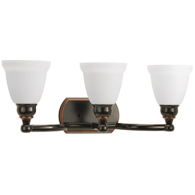 Delta Bathroom Vanity Lights : Shop DELTA 3-Light Windemere Oil Rubbed Bronze Bathroom Vanity Light at Lowes.com