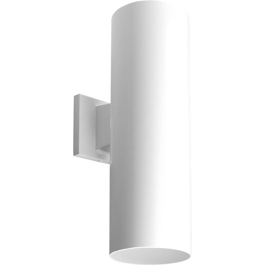 Dark Sky Wall Lights : Shop Progress Lighting 18-in H White Dark Sky Outdoor Wall Light at Lowes.com