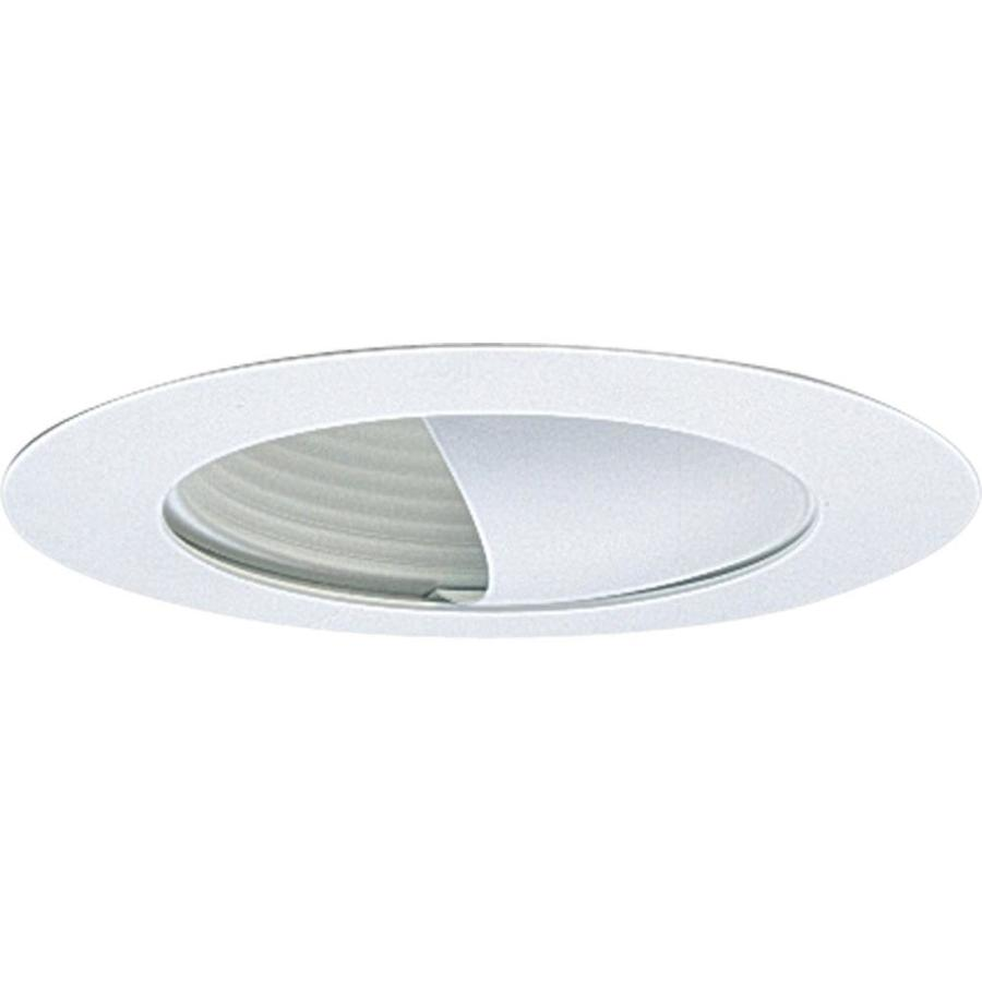 Recessed Lights Wall Washer : Shop Progress Lighting White Wall Wash Recessed Light Trim (Fits Housing Diameter: 6-in) at ...