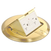 1-Gang Gold Aluminum Interior New Work Standard Round Floor Electrical Box
