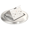 1-Gang Stainless Steel Aluminum Interior New Work Standard Round Floor Electrical Box