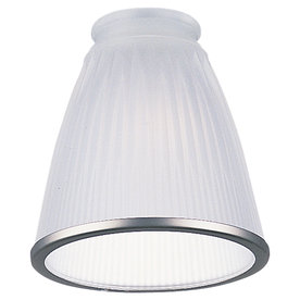 Sea Gull Lighting 0-Light Frosted W/Brushed Pewter Rim Ceiling Fan Light Kit with Glass Shade Glass or Shade