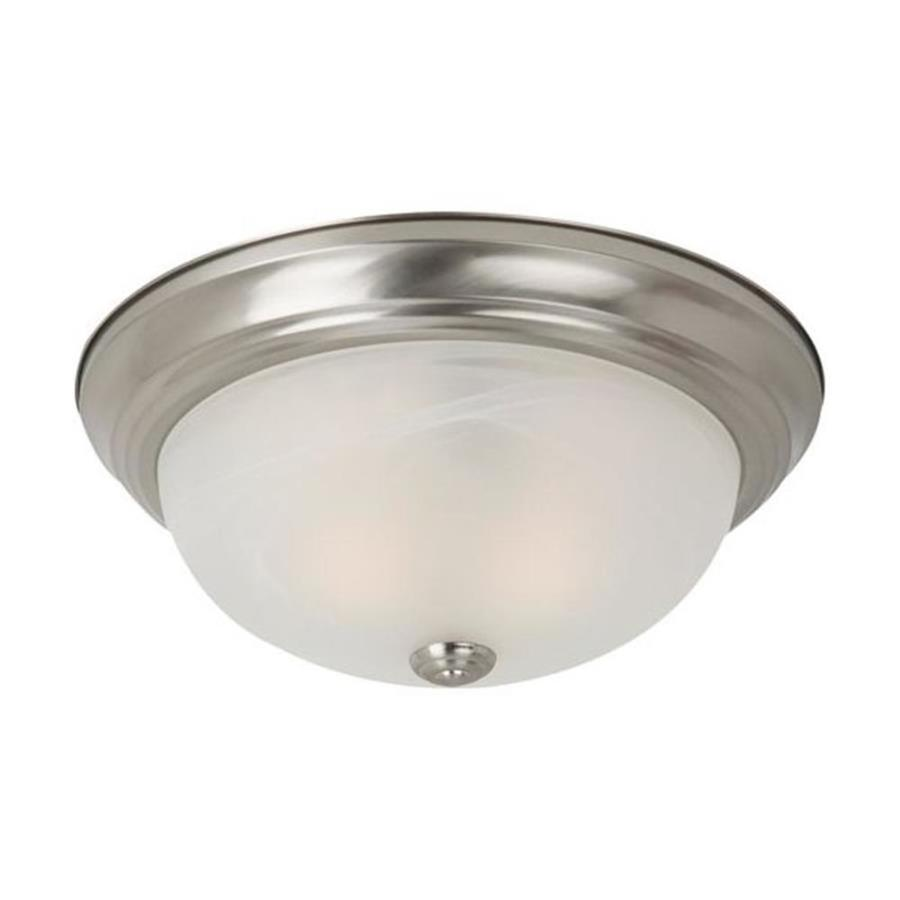 gull lighting 13 in w brushed nickel ceiling flush mount at. Black Bedroom Furniture Sets. Home Design Ideas