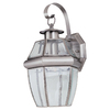 Sea Gull Lighting 12-in H Antique Brushed Nickel Outdoor Wall Light