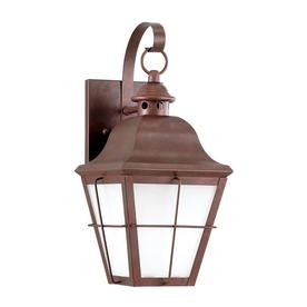 Sea Gull Lighting 14-in H Weathered Copper Dark Sky Outdoor Wall Light