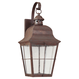 Sea Gull Lighting 20.75-in H Weathered Copper Dark Sky Outdoor Wall Light