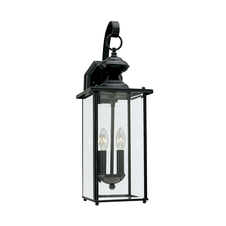 Exterior Wall Lights Lowes : Shop Sea Gull Lighting 20.25-in H Black Outdoor Wall Light at Lowes.com