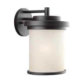 Sea Gull Lighting 14.5-in H Misted Bronze Outdoor Wall Light