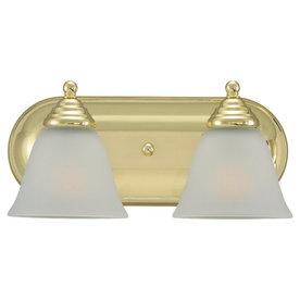 Shop Sea Gull Lighting 2 Light Albany Polished Brass Bathroom Vanity Light At