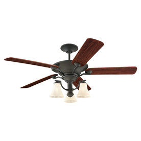 Sea Gull Lighting 56-in Blacksmith Ceiling Fan with Light Kit