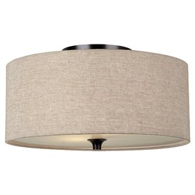 Sea Gull Lighting 14-in W Burnt Sienna Ceiling Flush Mount