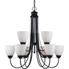 Sea Gull Lighting 9-Light Uptown Blacksmith Chandelier