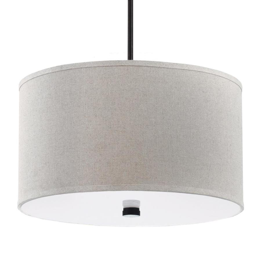 Shop Sea Gull Lighting Dayna 19 In W Burnt Sienna Pendant Light With Fabric S
