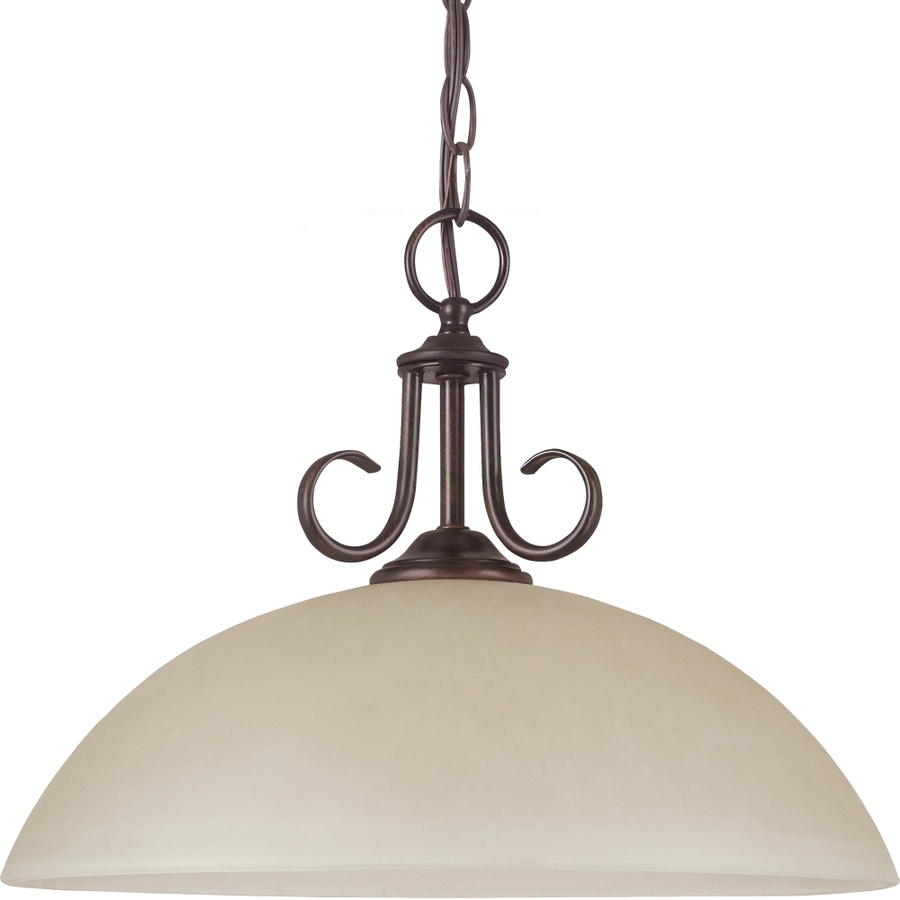 Lighting Lemont 15 75 In W Burnt Sienna Pendant Light With Frosted