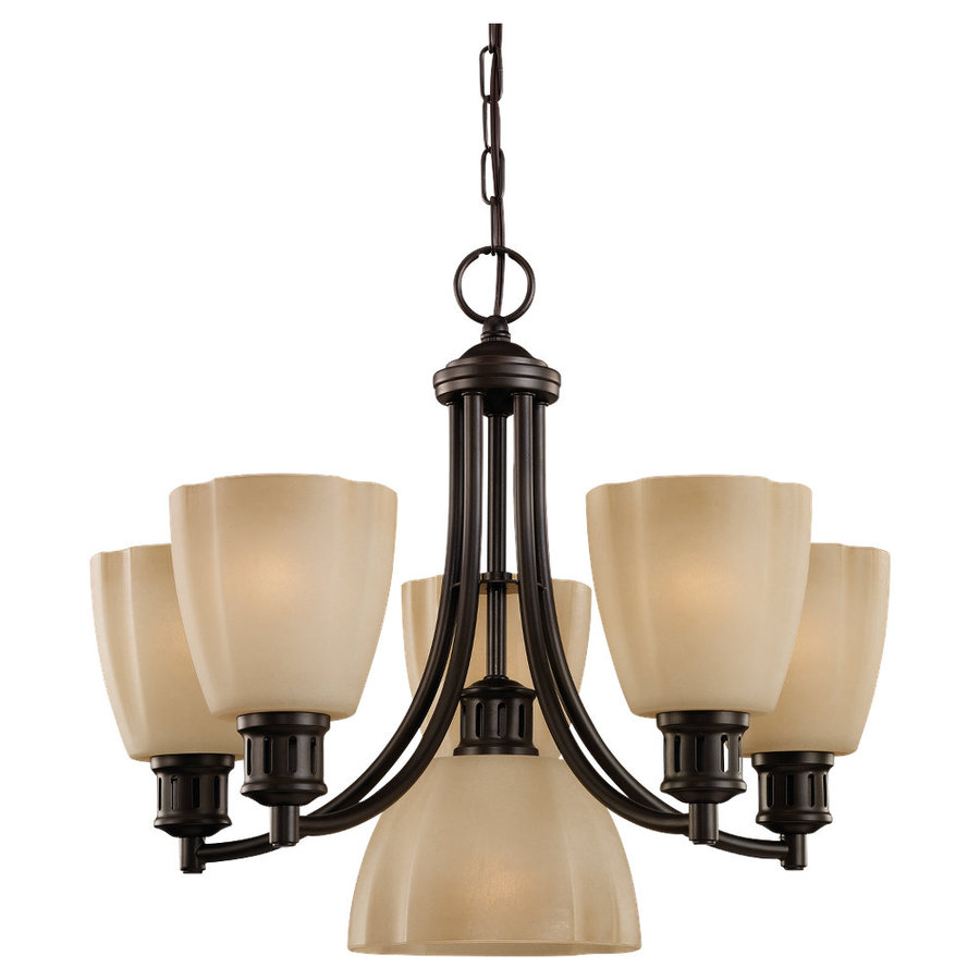 gull lighting century 6 light heirloom bronze chandelier at