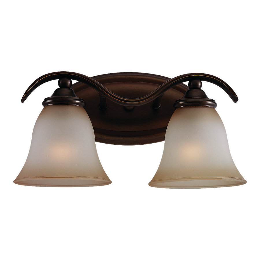 Vanity Lights For Bathroom Bronze : Shop Sea Gull Lighting 2-Light Rialto Russet Bronze Bathroom Vanity Light at Lowes.com