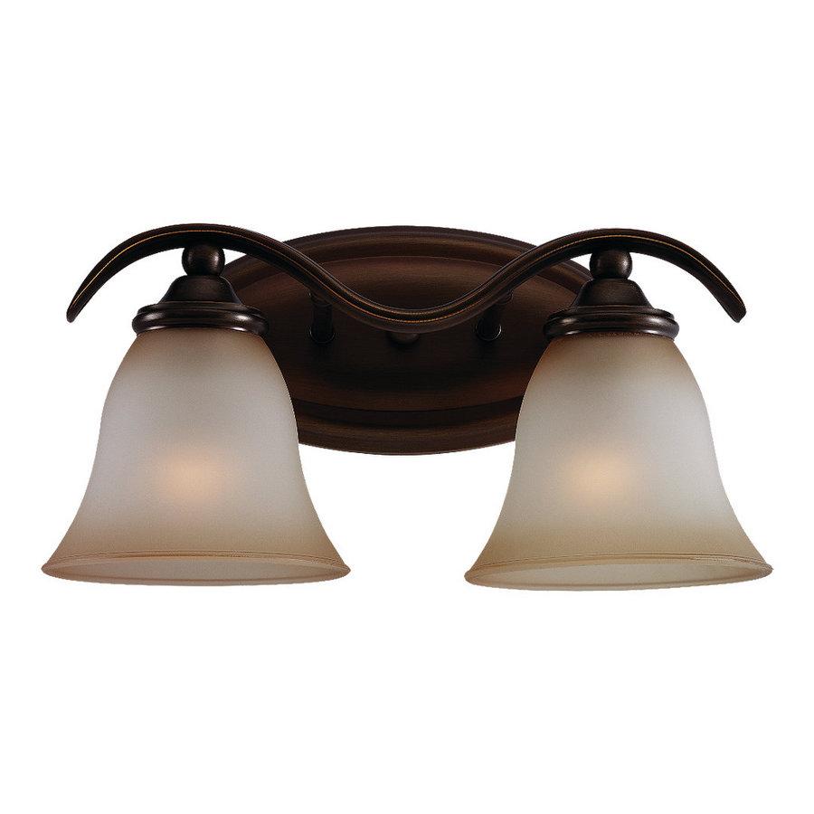 Shop Sea Gull Lighting 2-Light Rialto Russet Bronze Bathroom Vanity Light at Lowes.com