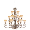 Sea Gull Lighting 15-Light Brandywine Antique Bronze Chandelier