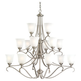 Sea Gull Lighting 15-Light Parkview Antique Brushed Nickel Chandelier