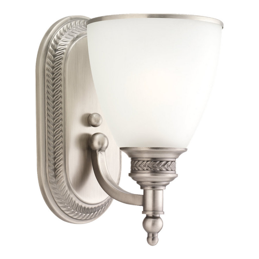 Shop Sea Gull Lighting Laurel Leaf Antique Brushed Nickel Bathroom Vanity Light At