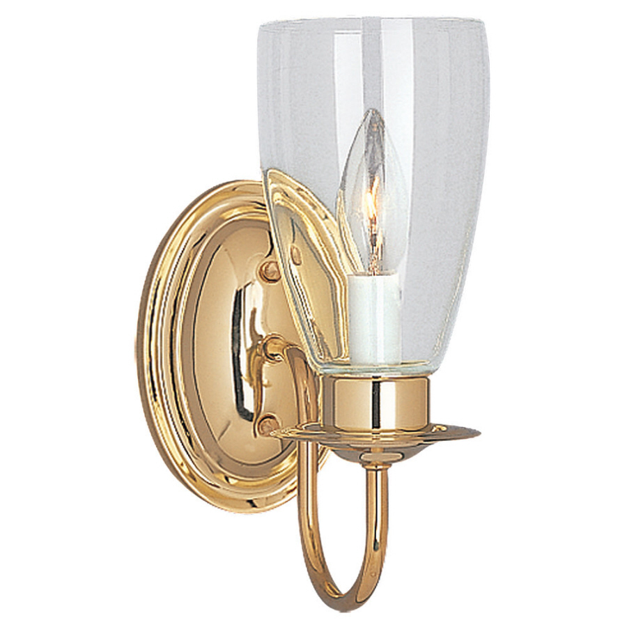 Shop Sea Gull Lighting Polished Brass Bathroom Vanity Light at Lowes.com