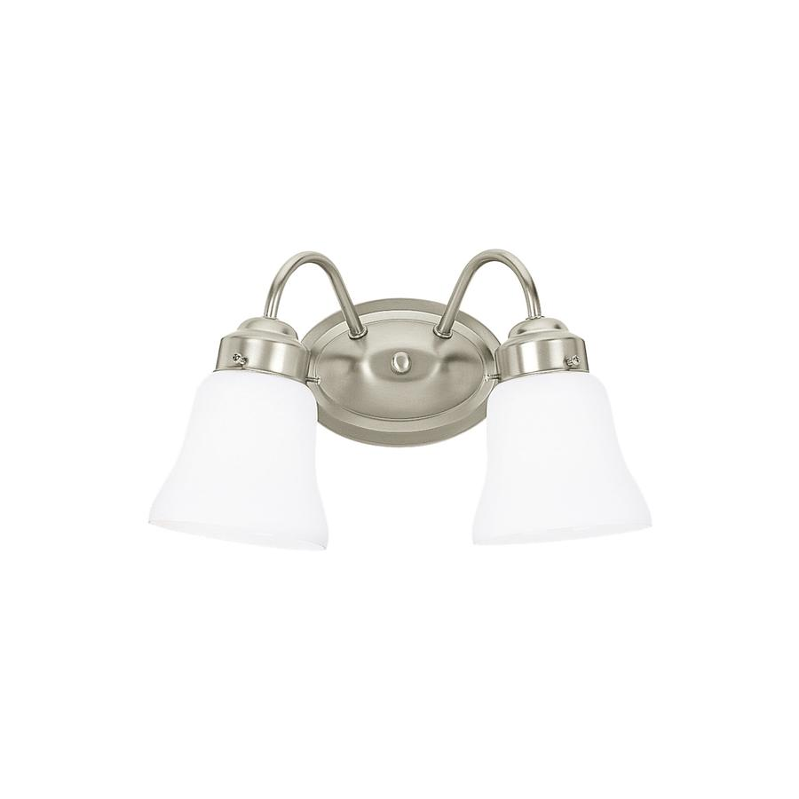 Shop Sea Gull Lighting 2-Light Westmont Brushed Nickel Bathroom Vanity Light at Lowes.com
