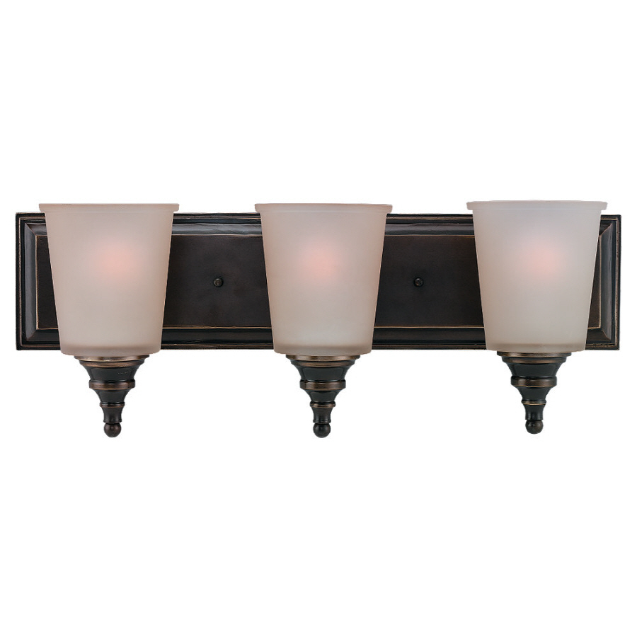 Shop Sea Gull Lighting 3-Light Warwick Vintage Bronze Bathroom Vanity Light at Lowes.com