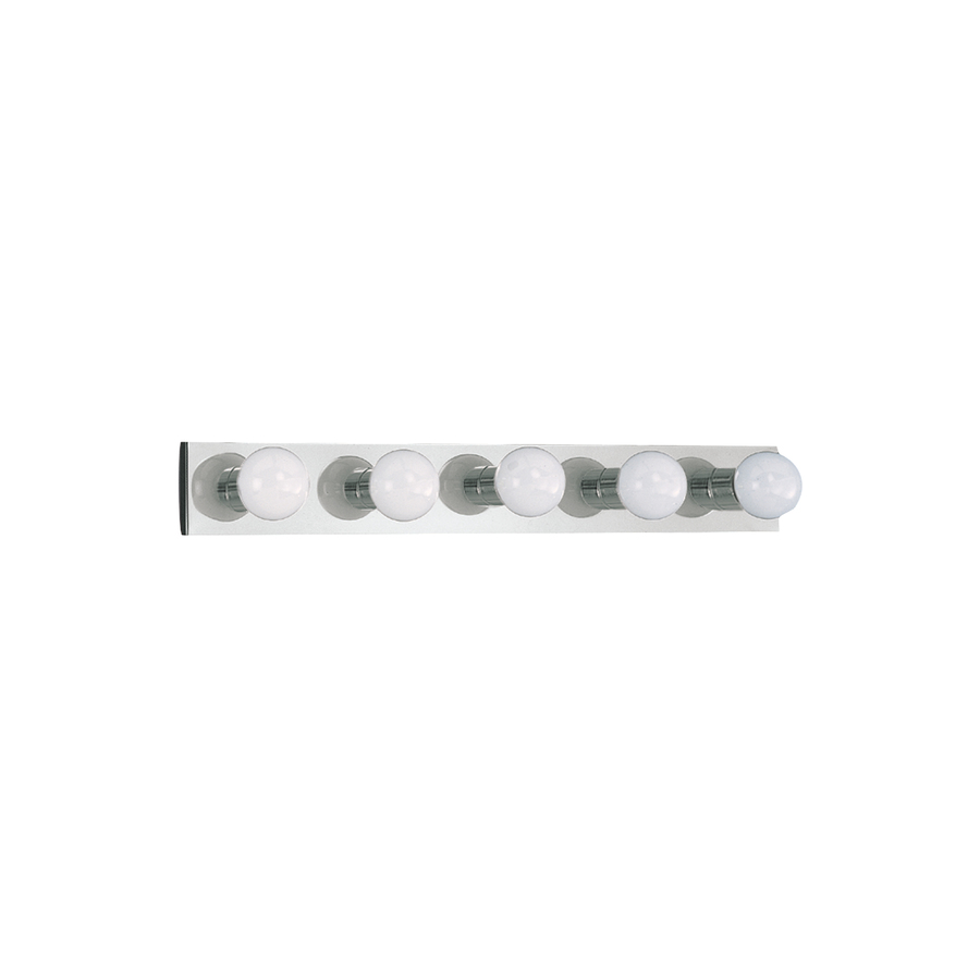Shop Sea Gull Lighting 5 Light Center Stage Chrome Bathroom Vanity Light At