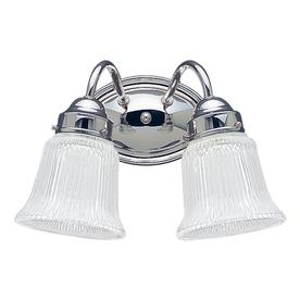 Sea Gull Lighting 2-Light Brookchester Chrome Bathroom Vanity Light