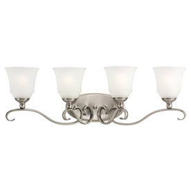 Sea Gull Lighting 4-Light Parkview Antique Brushed Nickel Bathroom Vanity Light