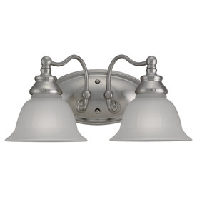 Sea Gull Lighting 2-Light Canterbury Brushed Nickel Bathroom Vanity Light